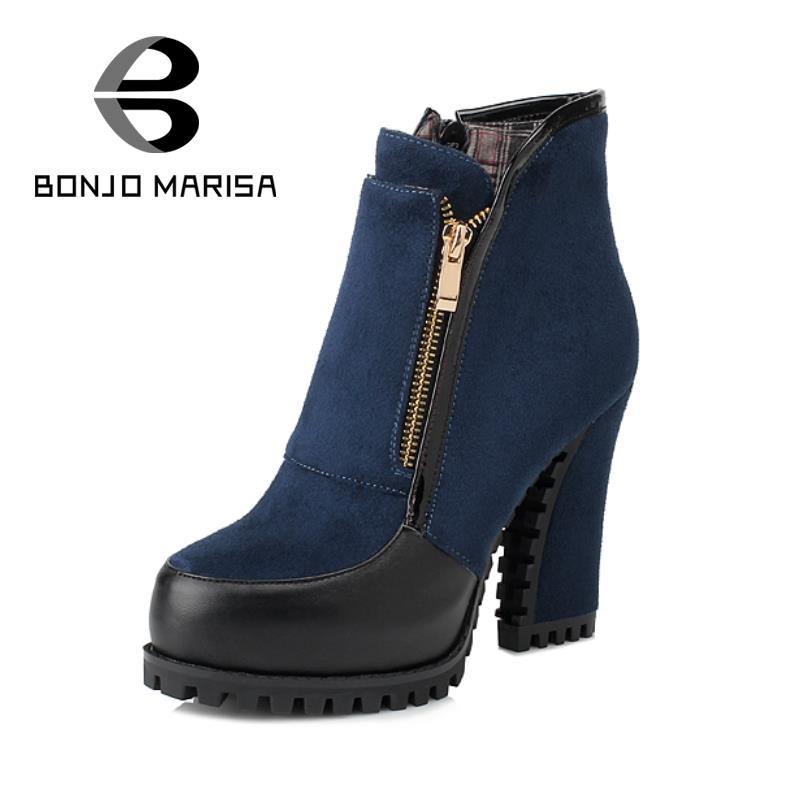 Cool  Boots  Womens Black Leather Style Chelsea Block Heel Ankle Boots