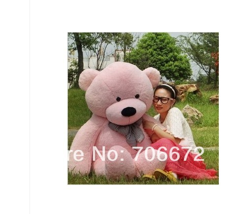 New stuffed pink teddy bear Plush 220 cm Doll 85 inch Toy gift wb8458(China (Mainland))
