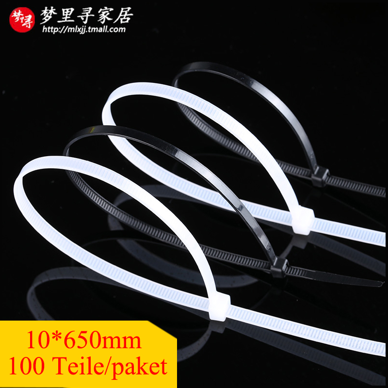 100 Teile/paket 10*650mm Velcro Cable Ties Width 9mm Velcro Tie Self-locking Plastic Fascette Nylon Zip Cable Tie Cord Strap(China (Mainland))