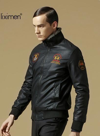 Мужская верхняя одежда осень Куртка Кожа PU является высокотехнологичным и высокосортным ...