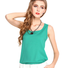 Buy Fashion Women Candy Color Chiffon T-Shirt Girl Green O-neck Sleeveless Vest Tee Shirts Female Summer Casual Tops Plus Size for $1.99 in AliExpress store