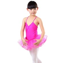 3-12Y Retail Kids baby Girls Strap Tutu Dress Dancewear Ballet Dancing dresses