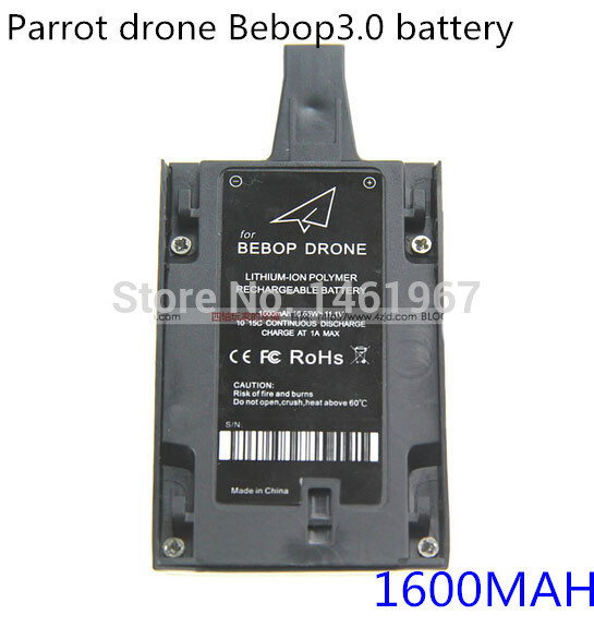Parrot drone Bebop3.0 upgraded version battery 1600MAH with a bottom take power function(China (Mainland))