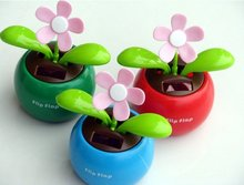 Wholesale - Solar Apple Flower, Automatic Swing Sunflowers, Car Accessories Free Shipping(China (Mainland))