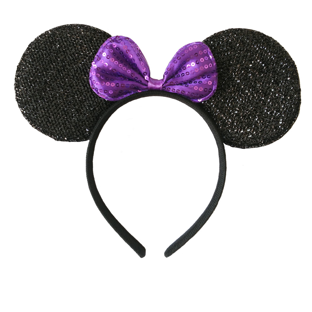 1pcs Mickey Minnie Mouse Ears Solid Black & Colorful Bows Headband for Boys and Girls Birthday Party or Celebrations / Cosplay(China (Mainland))