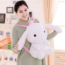 Buy Hot! Cute rabbit backpack kids soft plush animal lolita doll toy bag lady kawaii Long Ears bunny rucksack girls gift for $22.87 in AliExpress store