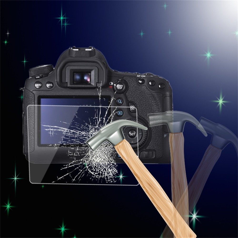 0.5mm Camera Tempered Glass LCD Screen Panel Film Protector HD Guard Waterproof Cover For Canon EOS 6D DSLR Camera(China (Mainland))