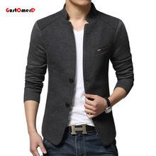2015 New Arrival Jacket Patchwork Fashion Denim Red Blazer Men Suit Cardigan Slim Fit Blaser Masculino Jaqueta Masculina Blazers