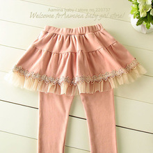 [Aamina] wholesale baby girls leggings, skirt ruffle pants, new spring / autumn / fall children clothing, 4pcs/lot(30929)