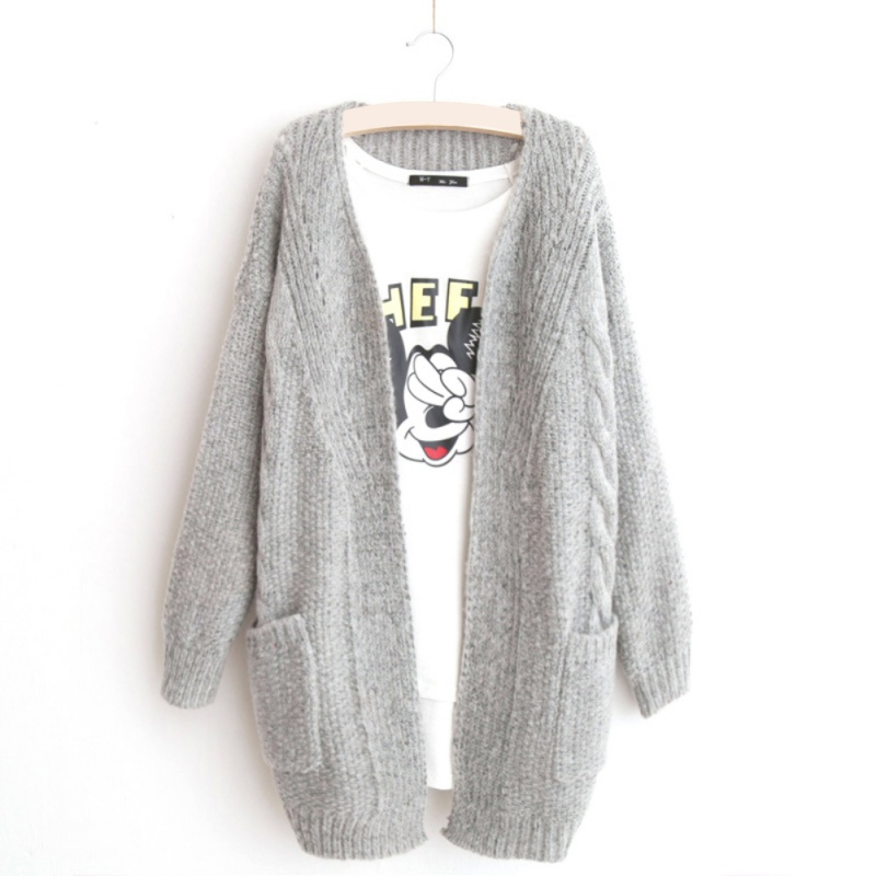 Women Sweater Jumper Coat Jacket Knitted Knitwear Outerwear Lady Warm Cardigan LL9(China (Mainland))