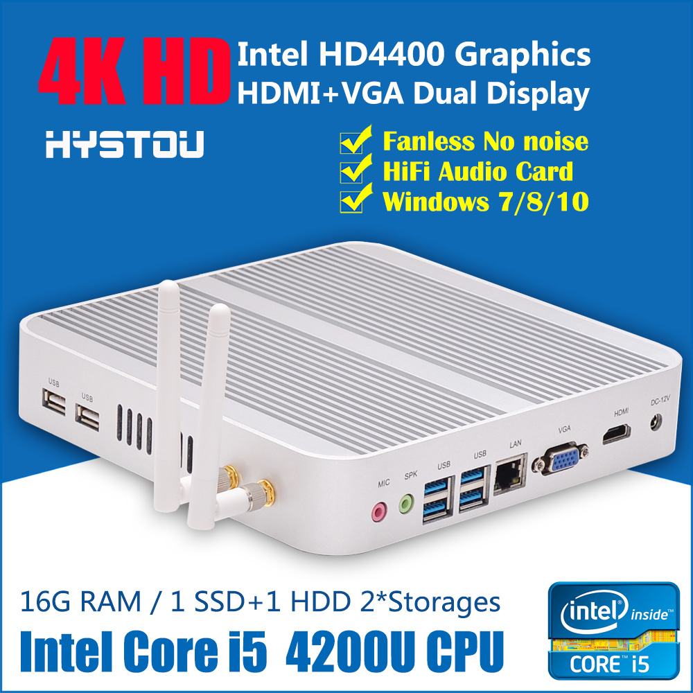 High Grade Mini Itx PC Intel NUC Mini Computer Core i5 CPU 4G RAM 128G SSD Build-in Dual wifi(China (Mainland))