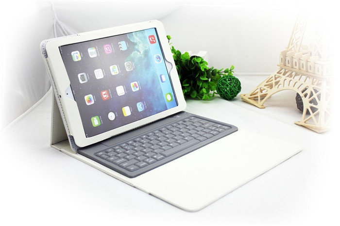 For Apple iPad Mini 2 1 Wireless Removable Bluetooth Keyboard & Leather Case Cover free shipping D0207(China (Mainland))