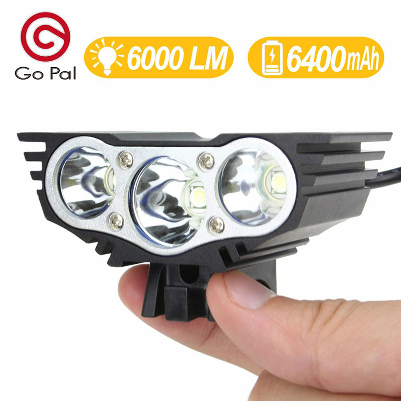 Bicycle Light Bike Flashlight Front light Leds 18650 Battery Pack Black Red Color 4000-6000 Lumens Bicycle Accessories(China (Mainland))