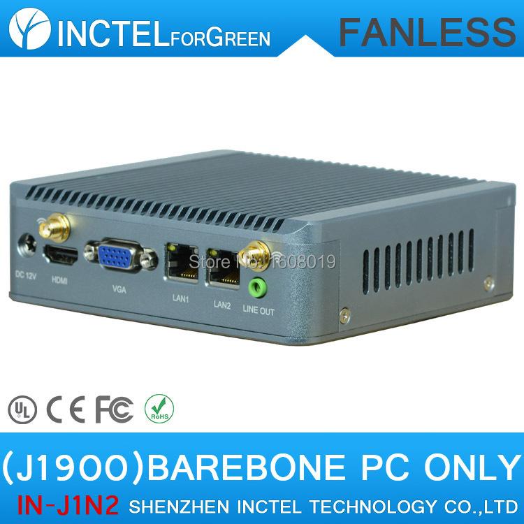 Barebone PC J1900 Mini PC 2* rj45 Ethernet USB3.0 Support wifi 3G Mini Quad Core Nano PC Computer<br><br>Aliexpress