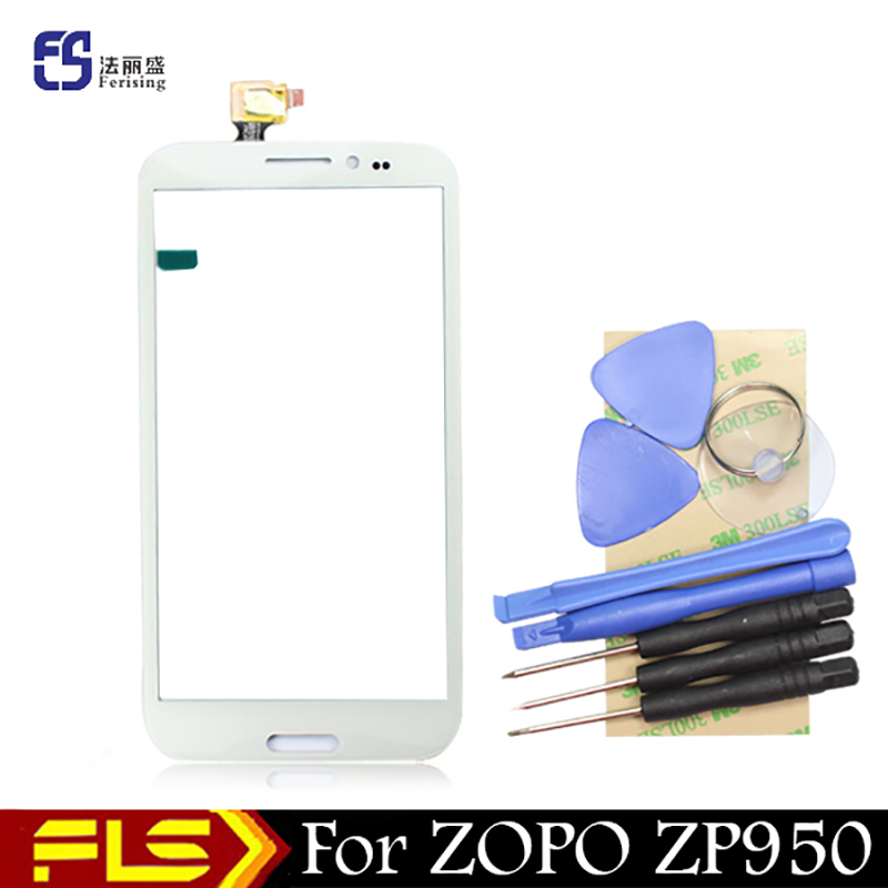 ( White color ) --5.7''inch HD Glass panel Capacitive Touch Screen For ZOPO ZP950 Leader Max sensor touchpad + free gift tools