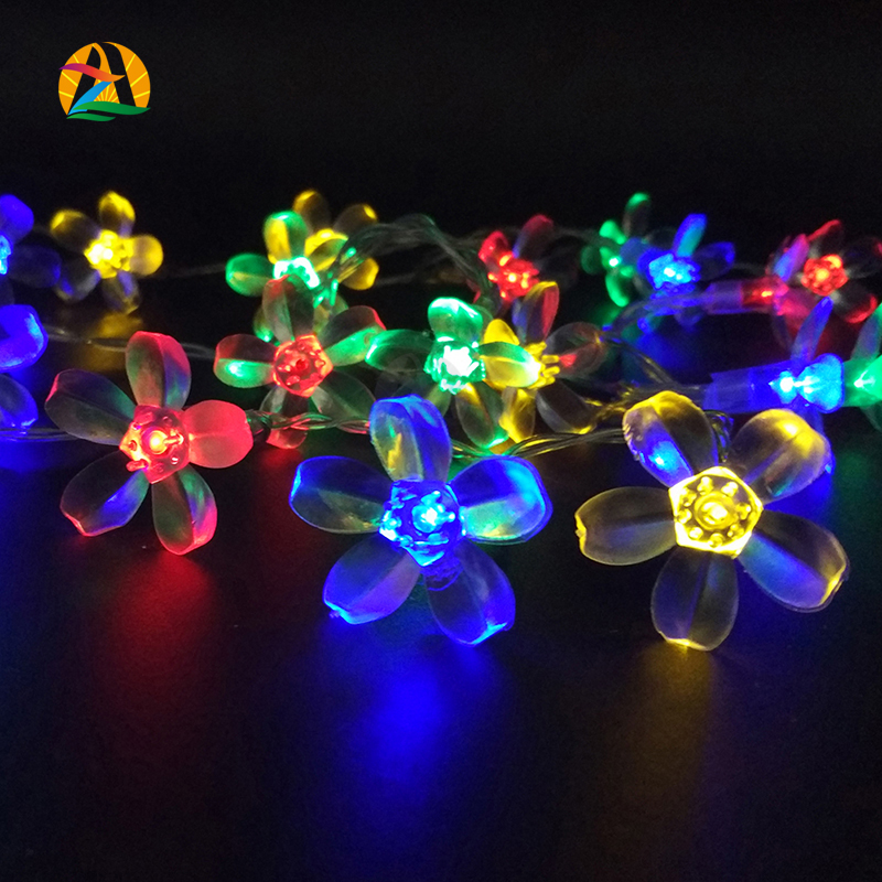 2016 3M 30 LEDs Decor Multicolor Multipendant LED String Lights Battery Event Christmas Wedding Birthday Party Decoration Lights(China (Mainland))