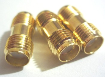 Free shipping 20 pcs Gold SMA female to SMA female jack in series RF coaxial adapter connectors