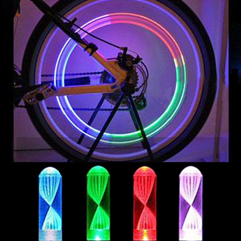 2Pcs Mini Mountain Bike Bicycle Motorbicycle Cycling Car Motor Cap Spoke LED Neon Lamp Flashing Tyre Wheel Valve Lights MTB9315(China (Mainland))
