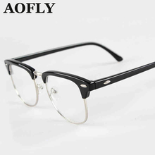 New Retro Clubmaster Wayfarer Clear Lens Nerd Frames Glasses Fashion brand design Mens Womens Vintage Half Metal OculosS1550