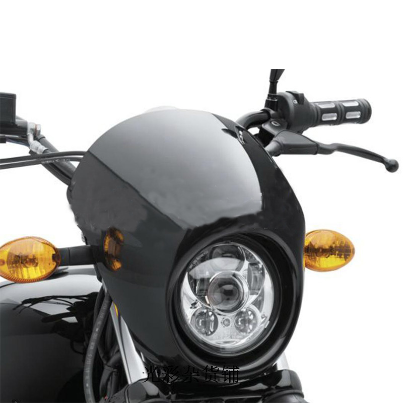 "Motos Accessories 5.75"" headlight motorcycle 5 3/4"" led headlight for Harley 5-3/4"" Motorcycle Black Projector Daymaker"