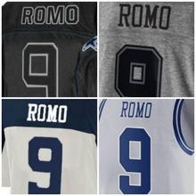 SexeMara Fashion Mens 2016 High Quality 88 Demaryius 9 Romo Color Blue Orange White Regular(China (Mainland))