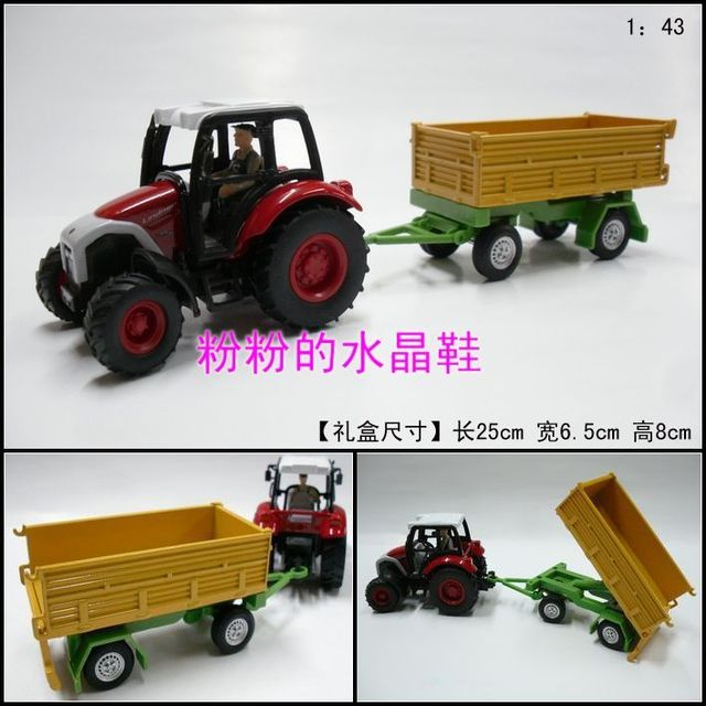 free shipping Gift box set of tractor miscellaneously transport vehicle truck toy alloy car model