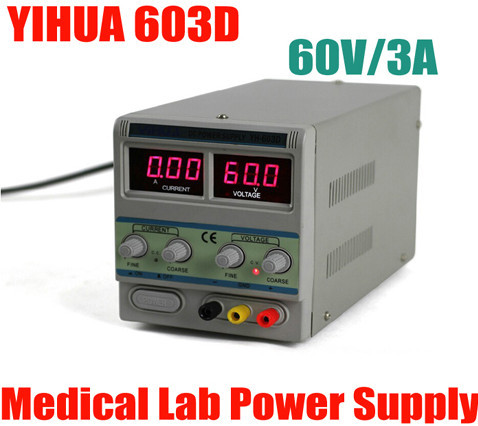 Фотография YIHUA 603D LCD display DC power supply Voltage Regulators Stabilizers 60v 3A for PC computer cellphone
