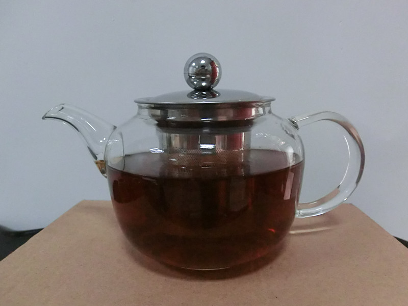 Glass Tea Pot 500ML Flower Coffee Tea Heat Resistant Glass Tea Pot Borosilicate Glass Teapot Kung