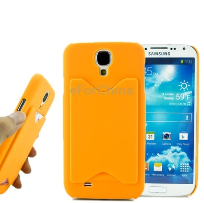 Candy Color Plastic Case For Samsung Galaxy S IV / i9500 Promotion Mobile Phone Cover with Credit Card Slot for Galaxy S4(China (Mainland))
