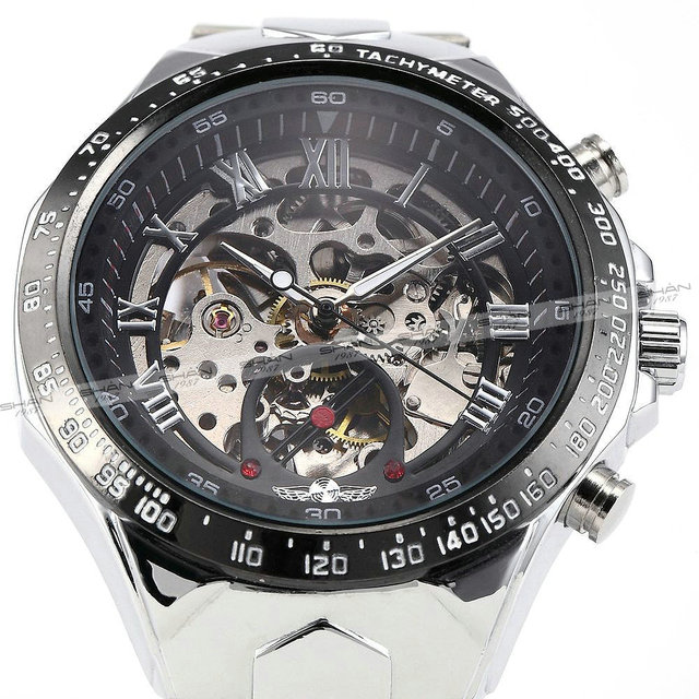 Classic Skeleton Steampunk Wristwatch