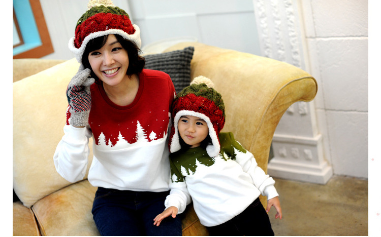 Free Shipping 2015 Family Christmas Cotton Warm Autumn Winter Mother Dad And Kids Long-Sleeve T-shirt Family Clothes Set  HTB1tU_4GFXXXXX2apXXq6xXFXXXC