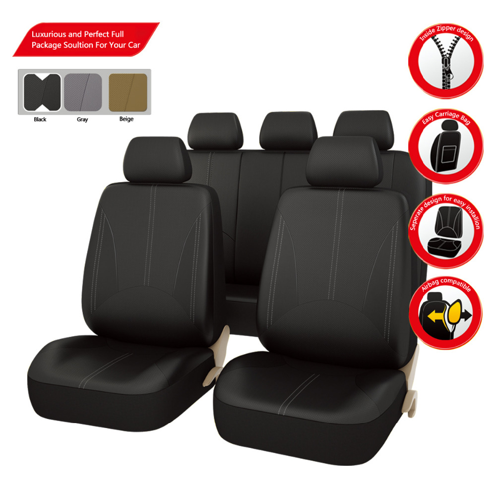 11PCS PU Leather Automotive Universal lada Car Seat Covers Fit for Vehicles,mazda 3 toyota yaris seat cover accessories(China (Mainland))