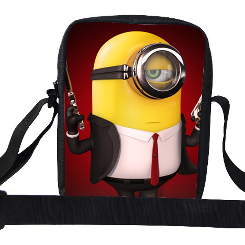 2015 Popular Cute Cartoon Despicable Me Shoulder Bag For Girls Minion Bags For Kids Messenger Bags For School Children Boys Kids(China (Mainland))