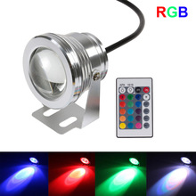 Nuovo 10 w 12 v subacquea rgb led light 1000lm impermeabile ip68 piscina fontana lampada luci 16 cambiamento di colore con telecomando ir(China (Mainland))