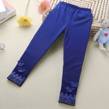 Kid Baby Butterfly Lace Warm Pants Girl Stretchy Trousers Toddler Tight