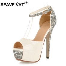 Glittering Size 34-43 Sexy High Heels Platform Shoes Pumps Women's Dress Fashion Wedding shoes lady Pumps(China (Mainland))