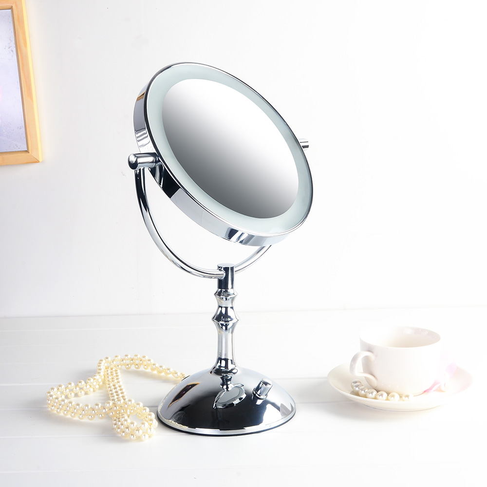 Hot selling 8 inches led desktop makeup mirror battery or for Mirror mirror hd