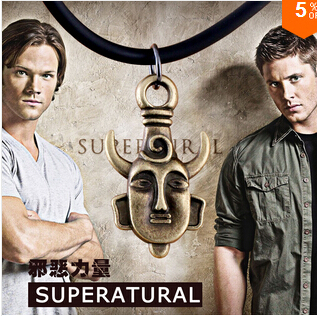 Amulet pendant Supernatural Jensen Ackles Dean Winchester Protection necklace 2014 new N340(China (Mainland))