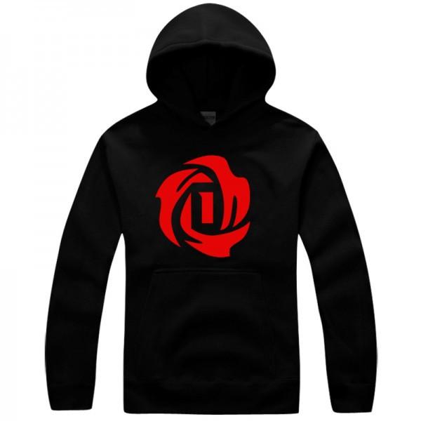 Bulls No.1 Derrick Rose logo pullover hoodie sweatshirt(China (Mainland))