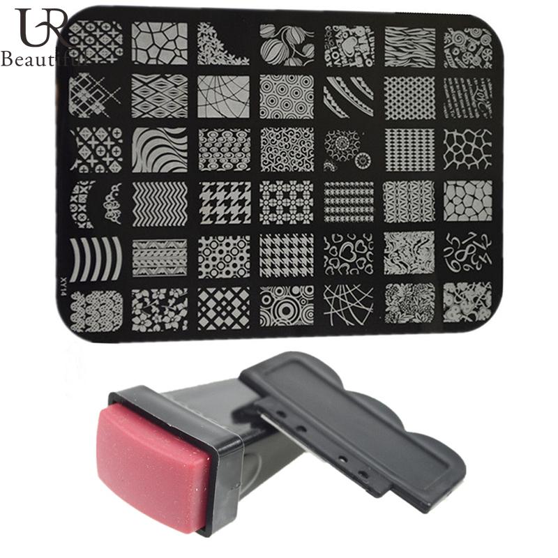 1 pc Nail Stamping Plates + 1 Stamper +Scraper Nail Art Stamp Transfer Set Printing Nail Art Decor Stamping Manicure Tools#NC100(China (Mainland))