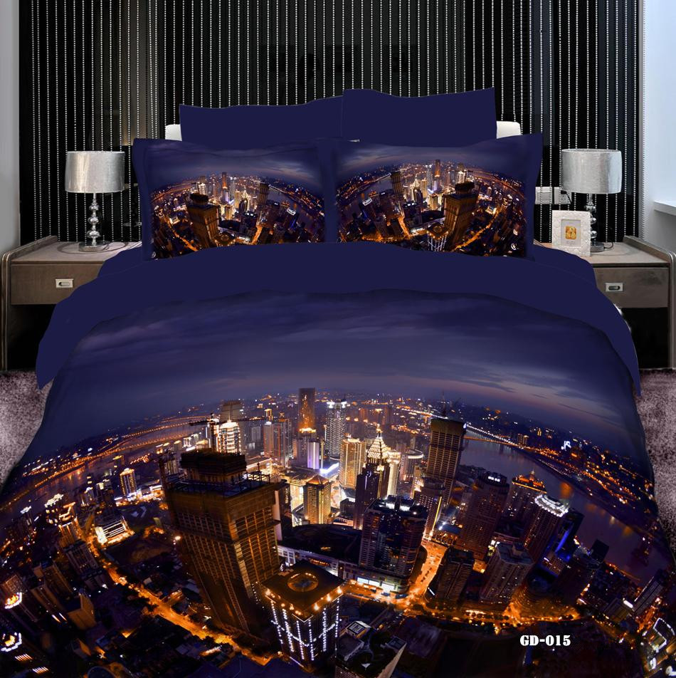 Top Fashion Luxury City Lights 3d Printed Comforter Sets 7