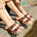 2017 Summer Clogs For Women Lovers Jelly Sandals Cut Outs Shoes Woman Slip On Flats Casual