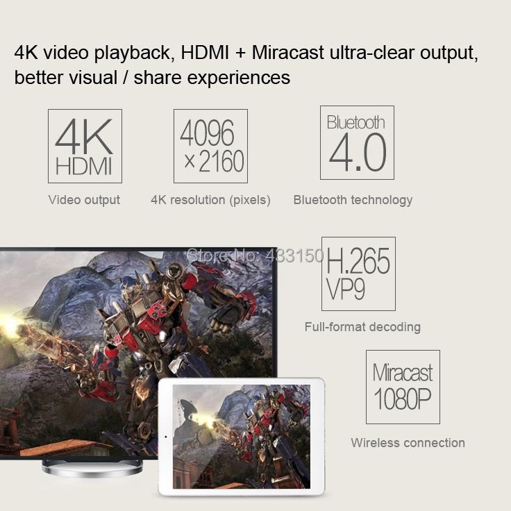Original ONDA V989 Allwinner A80 Otca Core ARM Cortex A15&A7 2.0GHz 2GB+32GB 9.7