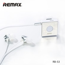 Original Stereo Remax S3 Wireless Bluetooth Earphone headset Earbuds Gift For Mobile Phone Call And Music with mic/microphone
