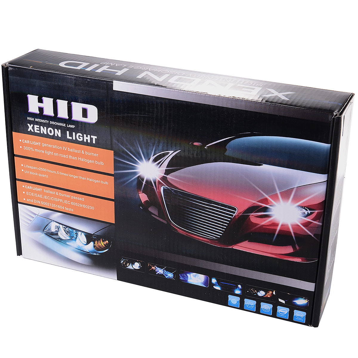 Xcsource 55 Watt Replacement High Intensity HID Kit Conversion Xenon Headlight Lamp Bulbs 8000K Foglight Slim Ballast H7 MA099(China (Mainland))