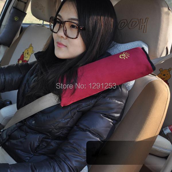 2 шт. стильный сейф малыш дети автокресло ремень жгут сна подушка крышка автомобиль плеча Pad Vg7BG
