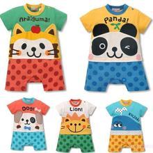 [Hip Hop]Cartoon Baby Romper Short Sleeve Clothes Boy/Girl One Pieces Jumpsuits Roupas De Bebe Infantil Baby Clothing #0011
