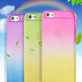 Newest fashion For iphone 4 4S Case Transparent Gradient Color Design Soft TPU Material Phone Cases