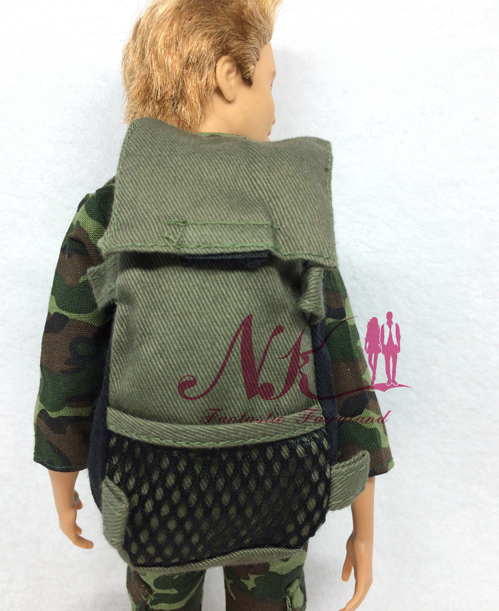 NK Original  Prince Doll Knapsack  Marines Combat Accessories Bag For Barbie Boy Male Ken Doll For Lanard 1/6 Soldier  Best Gift