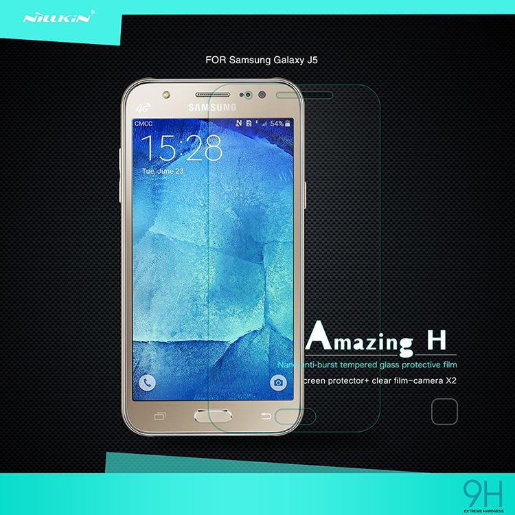 "For Samsung Galaxy J5 Tempered Glass Screen Protector Original ""Nillkin"" H nano Anti-Explosion Protective Film(China (Mainland))"